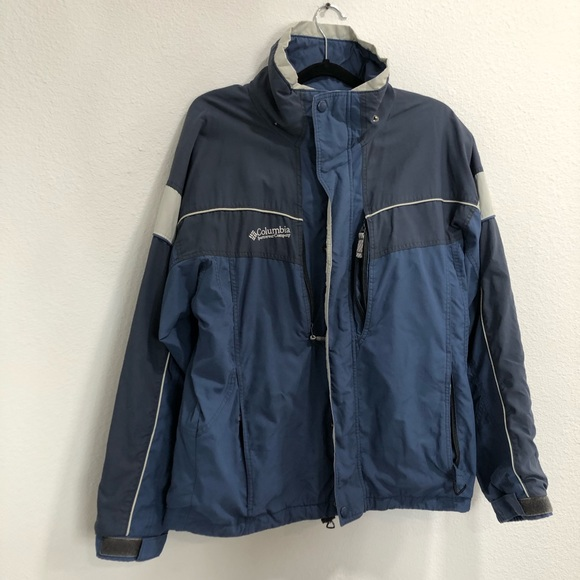Colombia blue jackets high neck front zipper